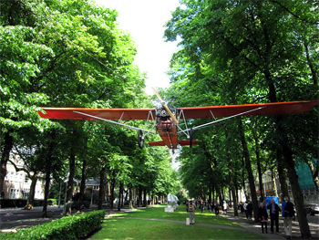 Amsterdam Art Airplane